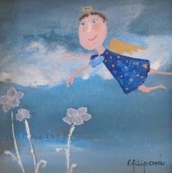Eva Filipová - Už letím | Olej 10x10 | Rám | 550,- Kč