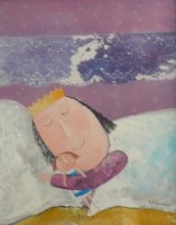 Eva Filipová - Princeznin sen | Olej 20x30 | Rám | 1.700,- Kč