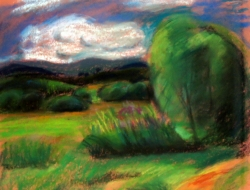 Eva Hodonská - Krajina s bílým mrakem