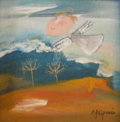 Eva Filipová - Mezi mraky | Olej 10x10 | Rám | 550,- Kč