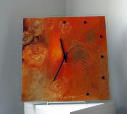 Táňa Dědourková - Hodiny obraz oranžové